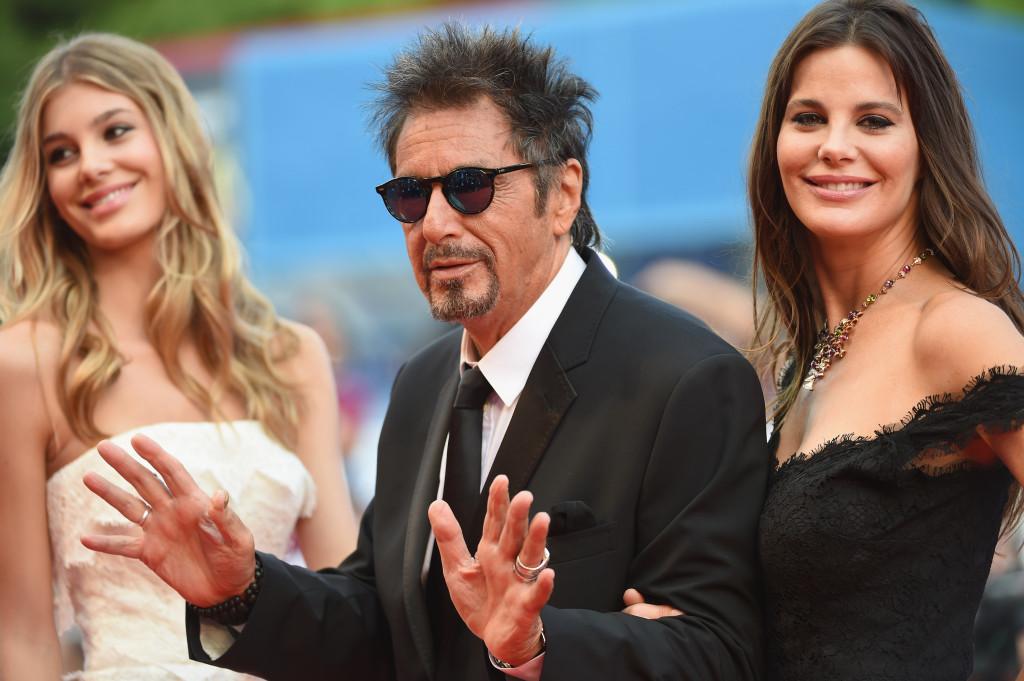 Al Pacino con Camila e Lucila Sola - Venezia 2014