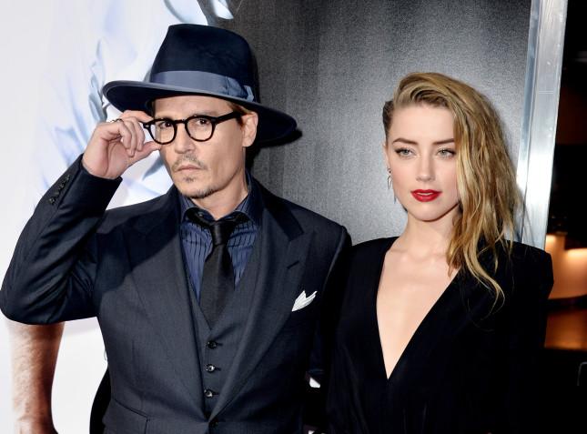 Johnny Depp e Amber Heard alla premiere di