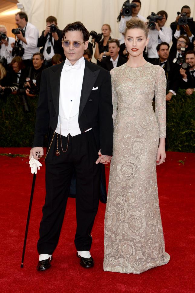 Johhny Depp e Amber Heard a un gala al Metropolitan Museum di NY
