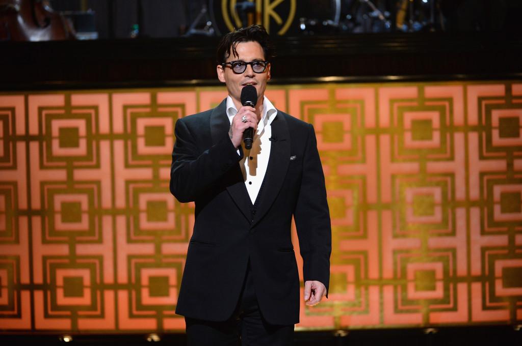 Johhny Depp sul palco  al