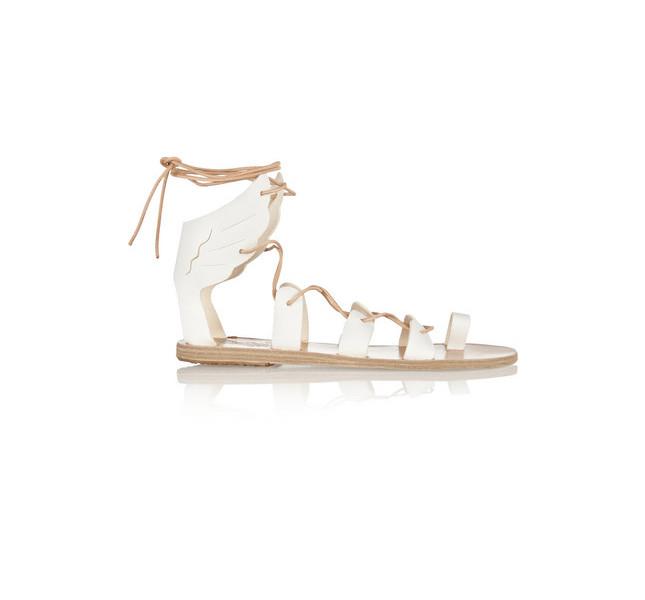 Sandalo basso allacciato alla caviglia by Ancient Greek Sandal