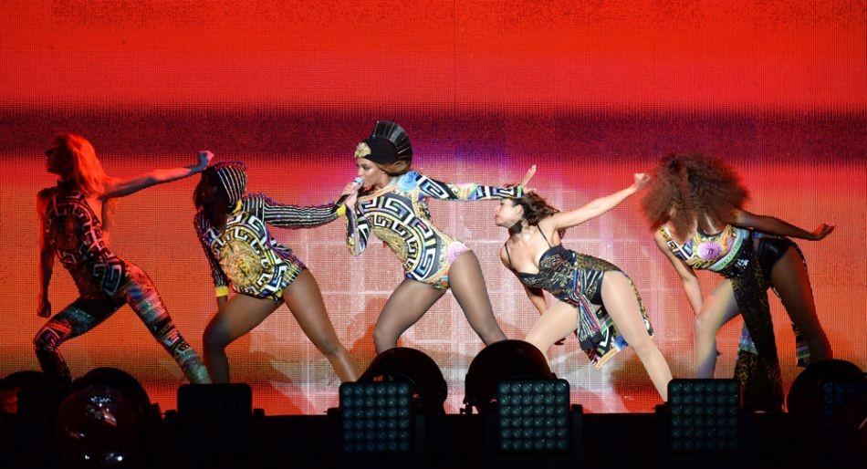 Beyoncé in uno dei suoi concerti