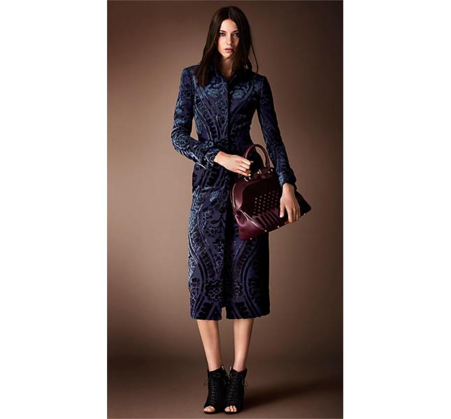Cappotto aderente stile arazzo in jacquard / Burberry fw 2014