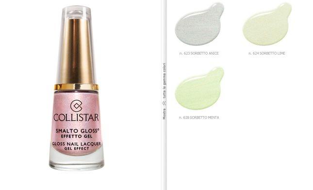 Unghie metallizzate in colori pastello con Collistar Smalto Gloss Effetto Gel Sorbetto