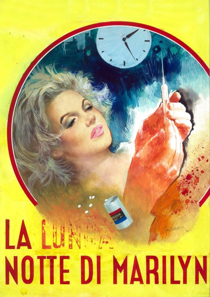 Copertina di Carlo Jacono per il giallo La lunga notte Marilyn