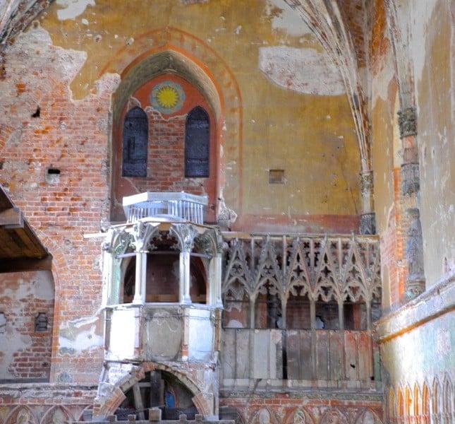 La chiesa nel castello di Malbork è una ferita ancora evidente della Seconda Guerra Mondiale ©CMariani