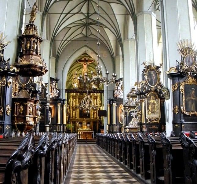 La basilica di San Nicola a Danzica è uno dei pochi edifici rimasti intatti durante la Seconda Guerra Mondiale ©CMariani