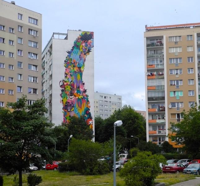 Passeggiare nel quartiere di Zaspa (Danzica) è una scoperta continua di colori e murales ©CMariani