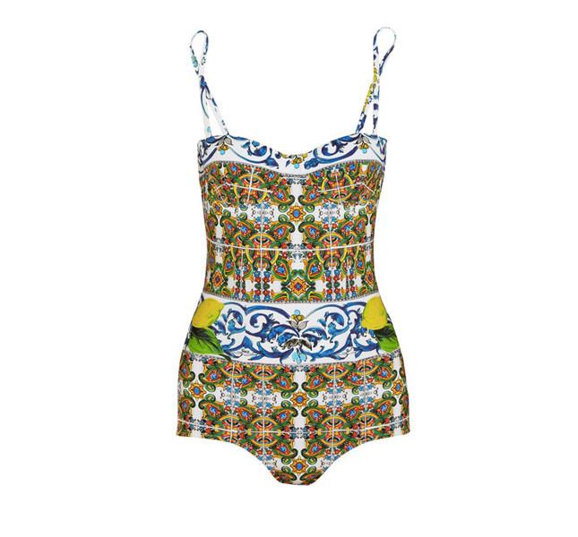 Dolce&Gabbana costume da bagno con fantasia