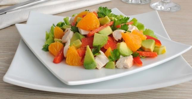 Insalata pollo avocado