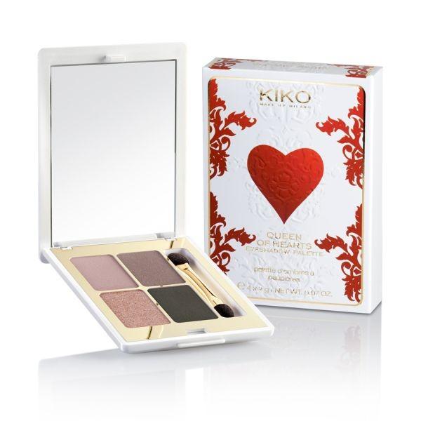 Sono calde e intense le tonalità di Kiko Queen of Hearts Eyeshadow Palette Essential Brown