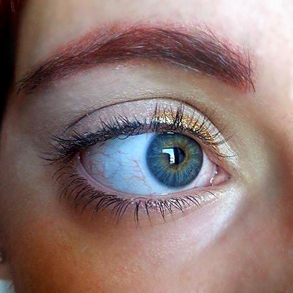 applicate l'eyeliner oro nella prima parte dell'occhio