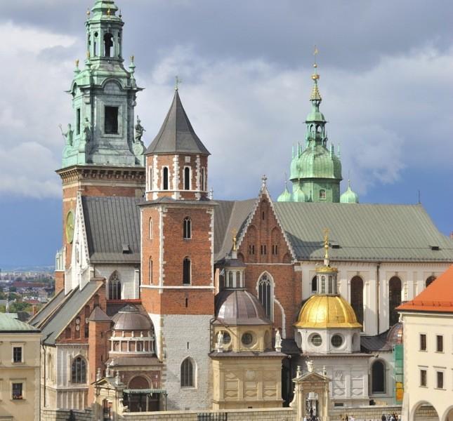 La cattedrale di Cracovia, tra i