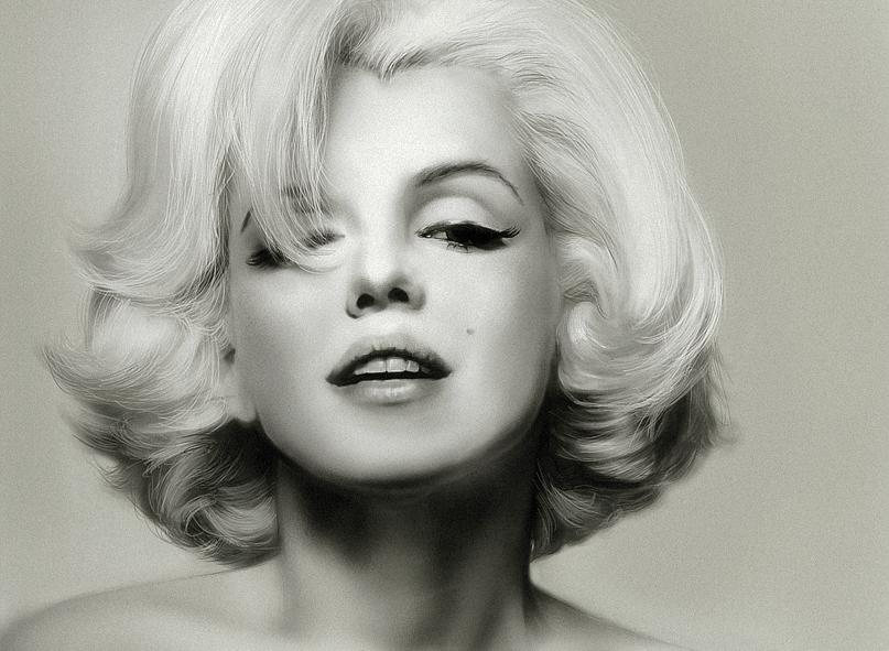Marilyn Monroe, il ritratto di Helga Design