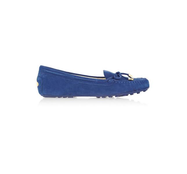 Mocassino in camoscio blu by Tod's, collezione SS 14