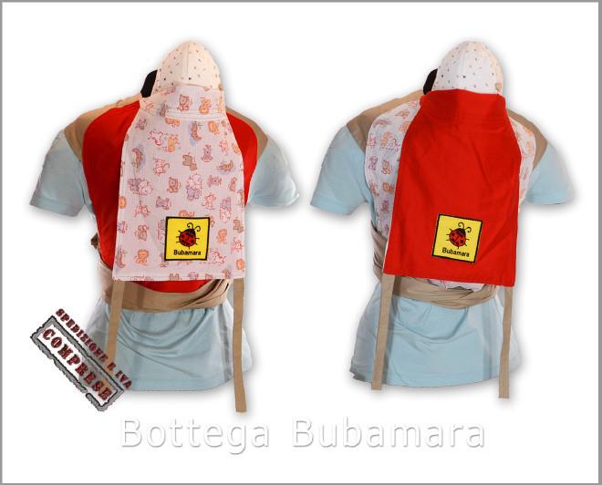 Mei Tai Marsupio Porta Bebè double face con reggitesta - realizzazione artigianale di Bottega Bubamara a Euro 80.00. Anche su ordinazione