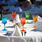 tavolo banchetto colorato