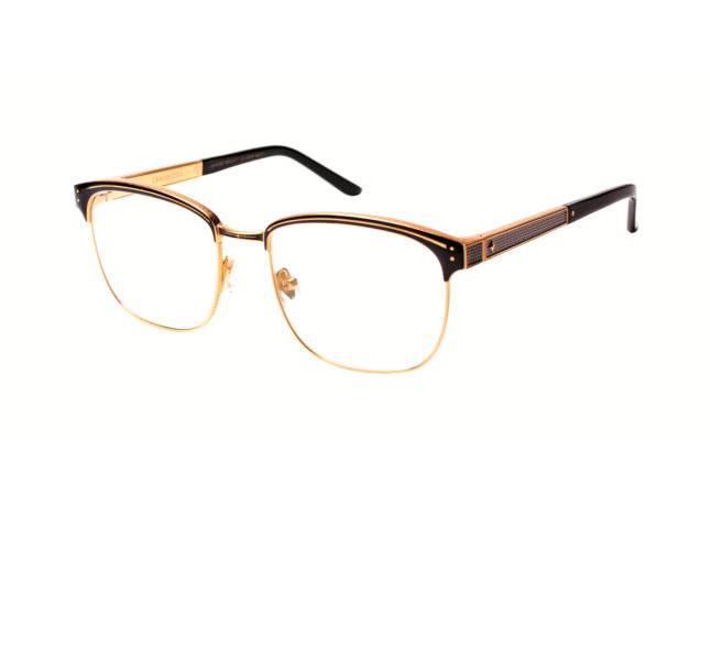 Modello Cambridge occhiali da vista nero e oro / Leisure Society