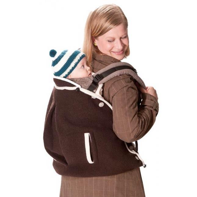 Cover in lana cotta per marsupio e fascia - Mamalila. taglia unica con tasche per la mamma. Su tabata.shop a 89.00 Euro