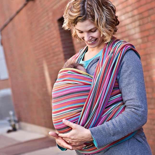 Fascia porta bebè lunga Neobulle - Manon Grise dalla nascita ai 4 anni in cotone organico. Da 79.00 Eruo su tabata.shop