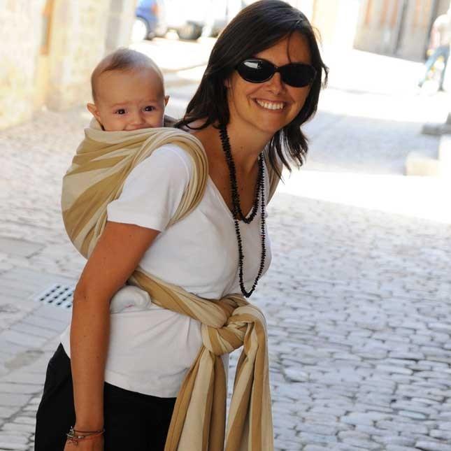 Fascia lunga rigida porta bebè Neobulle - Noè. In cotone organico a 79.00 Euro su tabata.shop