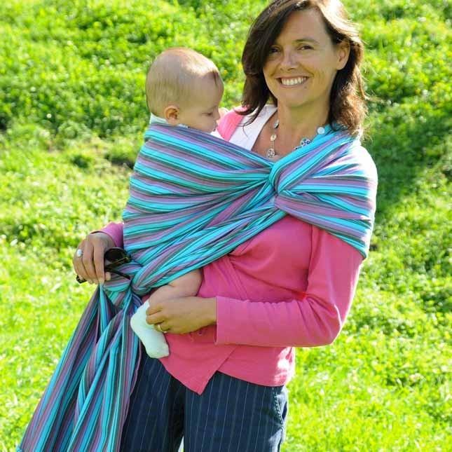 Fascia lunga porta bebè Neobulle - Louis. Dalla nascita ai quattro anni in cotone organico. A 79.00 Euro su tabata.shop