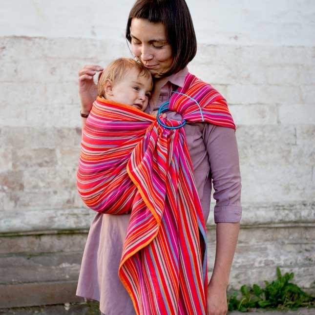 Fascia porta bebè ad anelli Neobulle - Manon Rouge. Dalla nascita ai 3 anni, a 69.00 Euro su tabata.shop