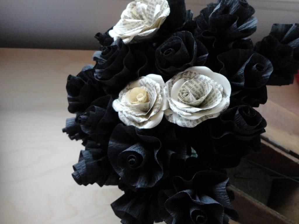 splendido bouquet fiori di carta