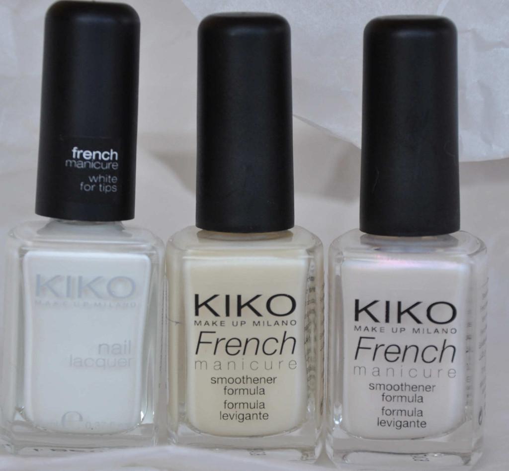 Da Kiko se ne possono trovare diverse varianti da quelli specifici per french bianco latte, ma anche perlati e metallizzati
