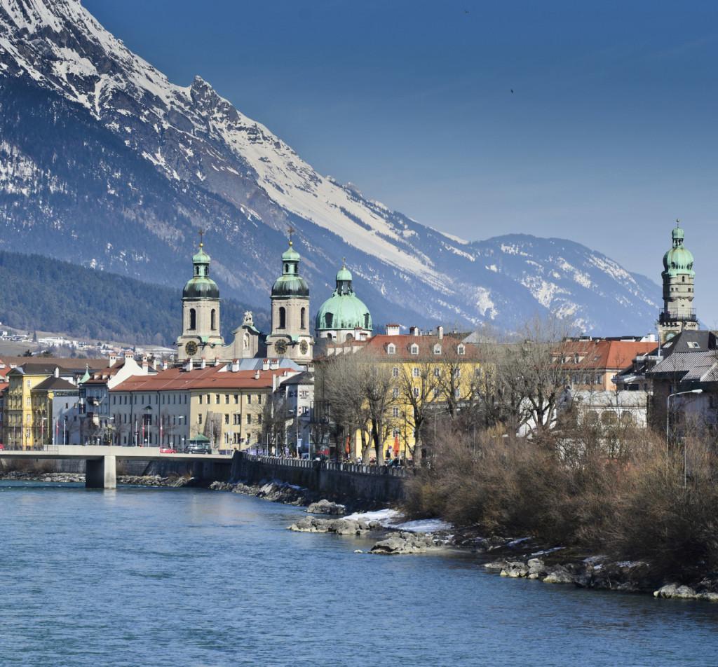 Vista della città di Innsbruck