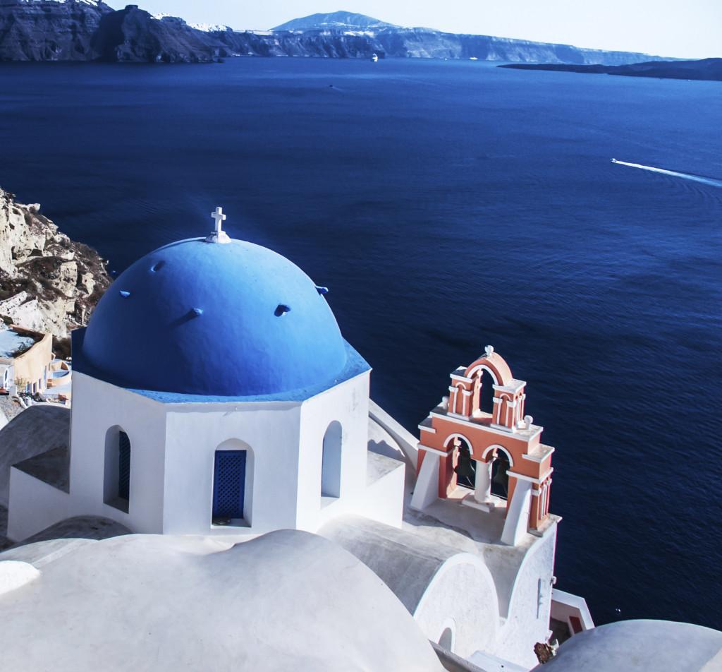 Oia, città dell'isola greca Santorini