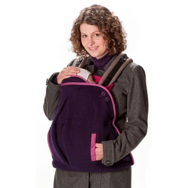 Cover in lana cotta con tasche per la mamma. Adatta a fascia porta bebè e marsupio a 89.00 Euro su tabata.shop