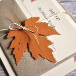 partecipazione matrimonio autunno
