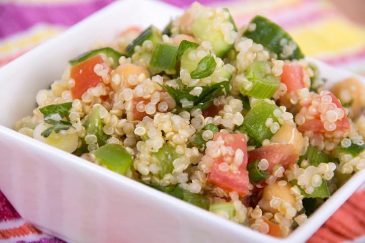 quinoa pollo e verdure