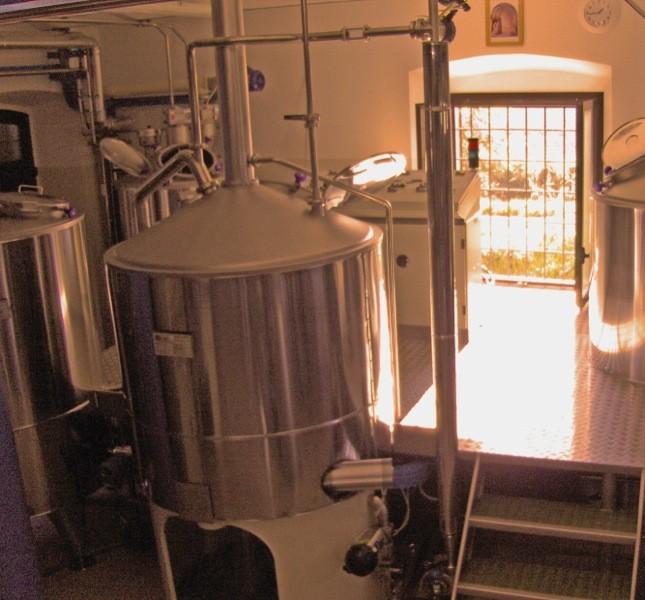 La sala di cottura. Come da tradizione belga le sono birre rifermentate in bottiglia