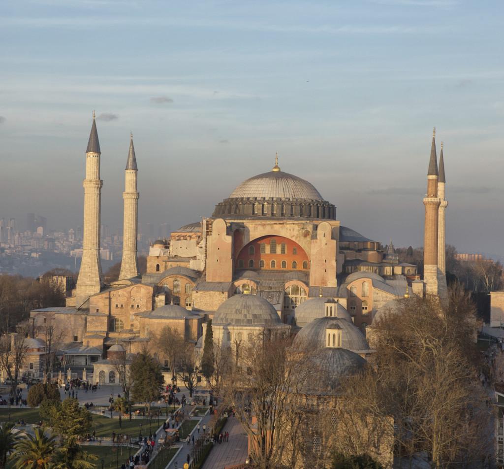 Vista della moschea di Sofia