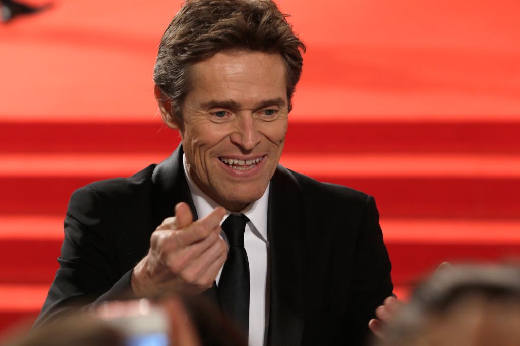 Belen Rodriguez ha rubato la scena anche ai protagonisti della giornata fra i quali l'attore Willem Dafoe, che interpreta Pasolini nel film di Abel Ferrara