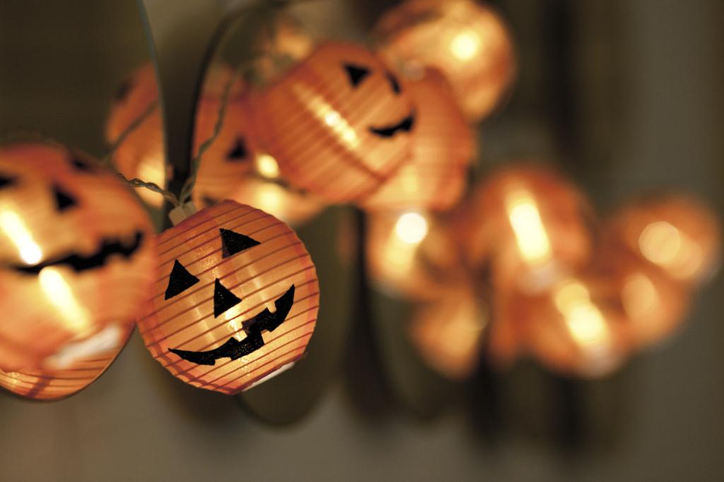 Zucche luminose per Halloween