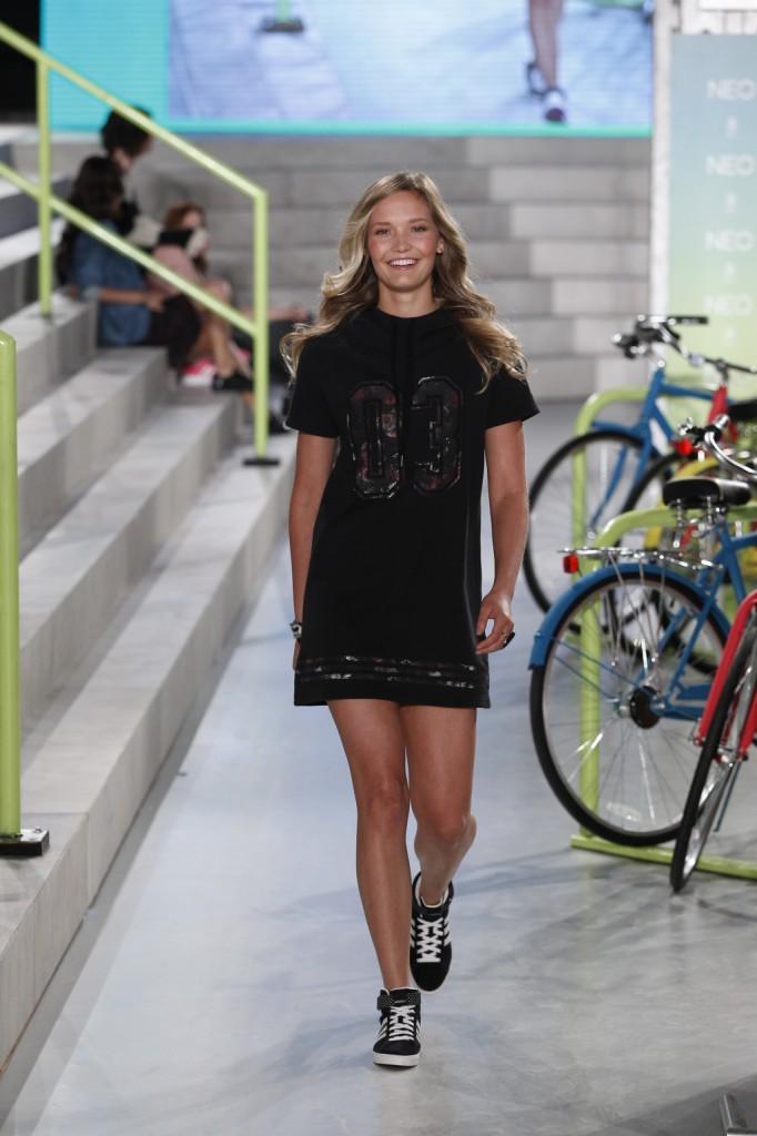 Minidress total black,  primavera-estate 2015 adidas NEO Label