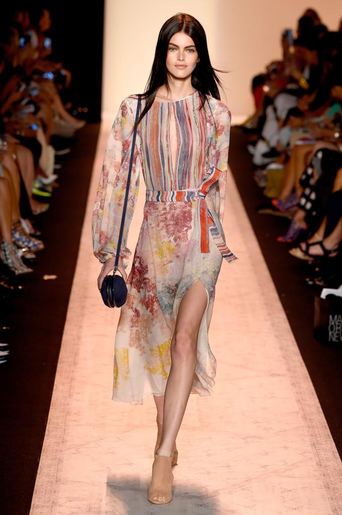 Vestito stile patchwork / sfilata BCBGMAXAZRIA ss 2015