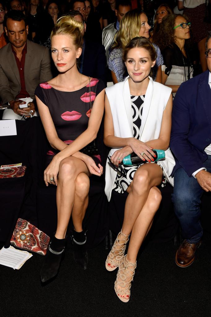 Poppy Delevingne e Olivia Palermo nel front row