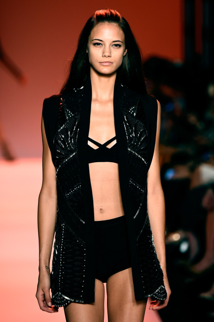Top e coulotte nero / Herve Leger ss 2015