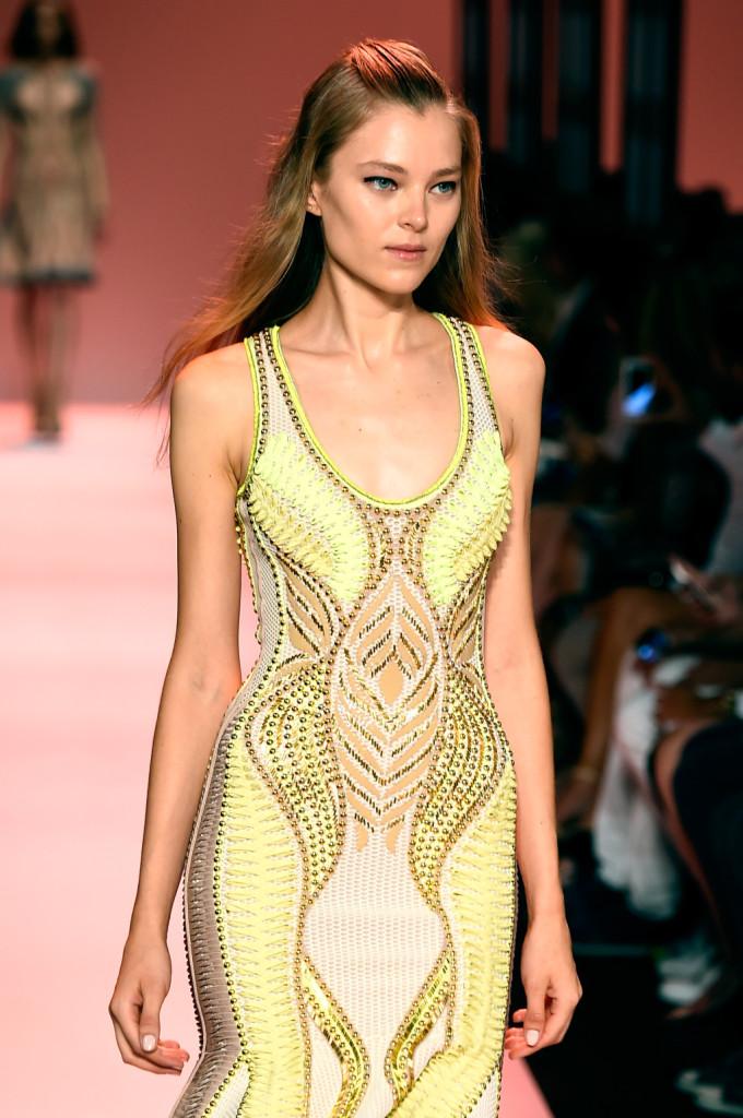 Bandage dress giallo neon: il colore è una novità assoluta per Herve Leger / Herve Leger ss 2015
