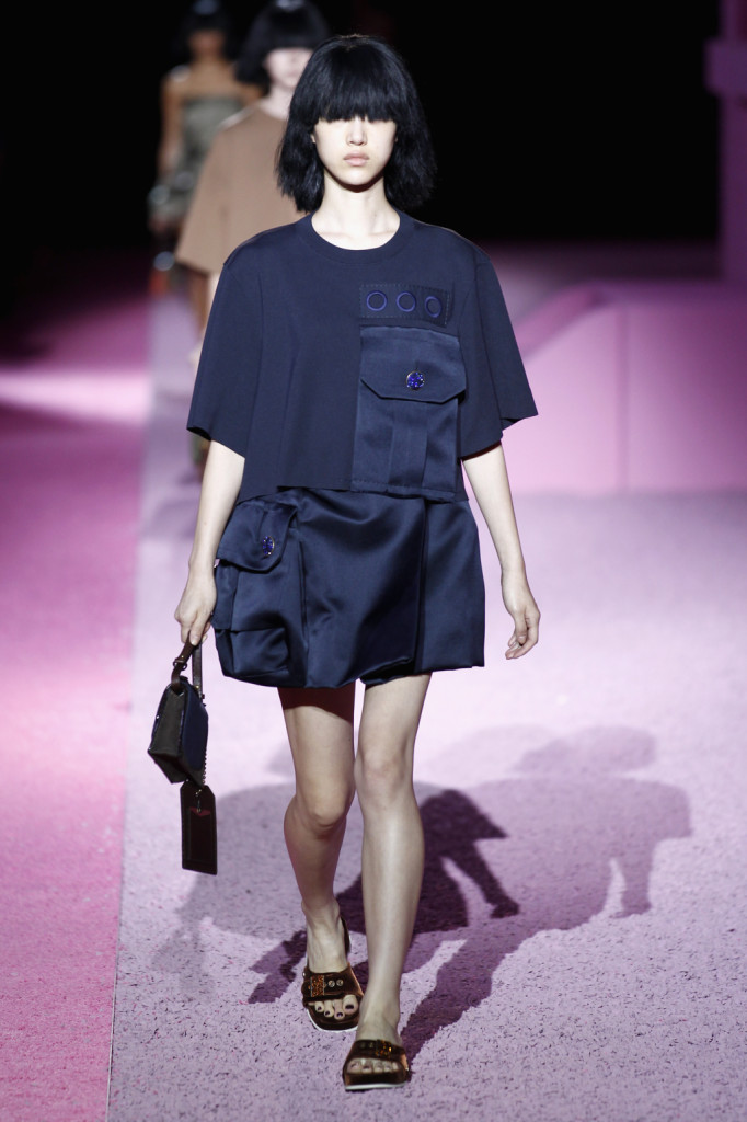 Top oversize e gonna blu mare Marc Jacobs collection 2015
