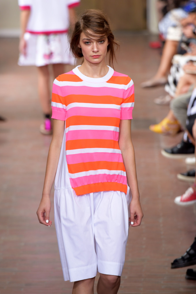 T-shirt oversize a righe orizzontali / I'm Isola Marras ss 2015