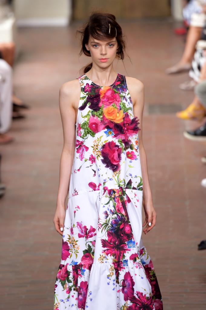 Romantico il vestito lungo a fiori / I'm Isola Marras ss 2015