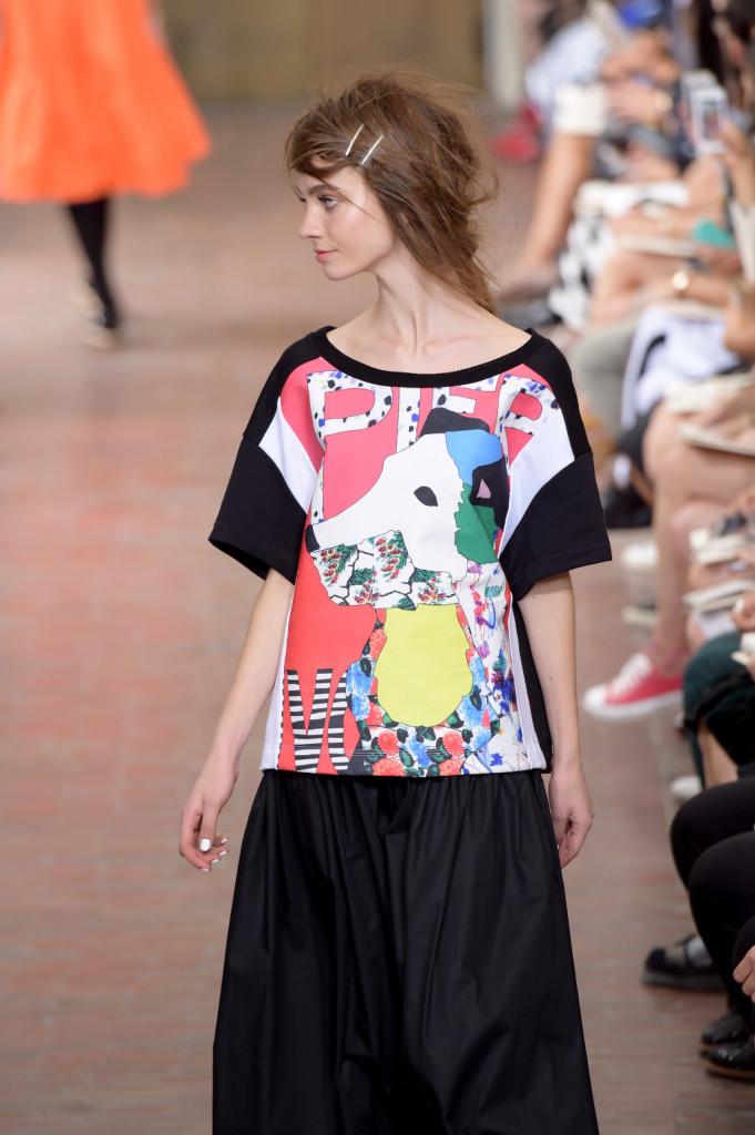 Maxi maglia con stampa colorata e gonna / I'm Isola Marras ss 2015