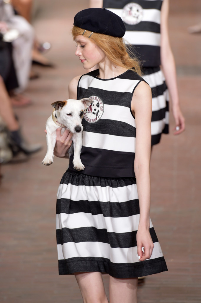 Top e gonna a righe black and white / I'm Isola Marras ss 2015