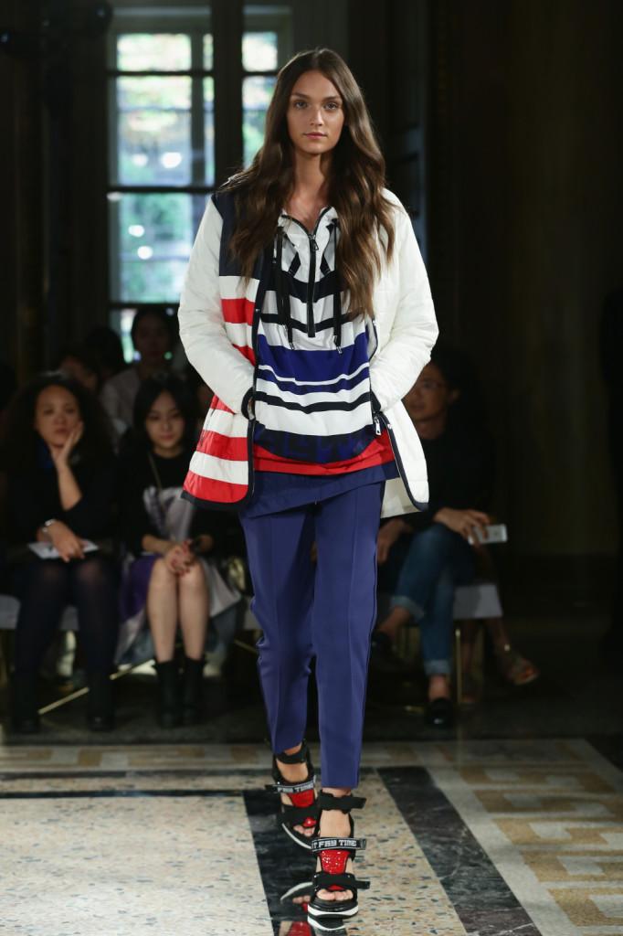 Pullover di cotone tricottato oversize con pantalone, collezione Fay s/s 2015