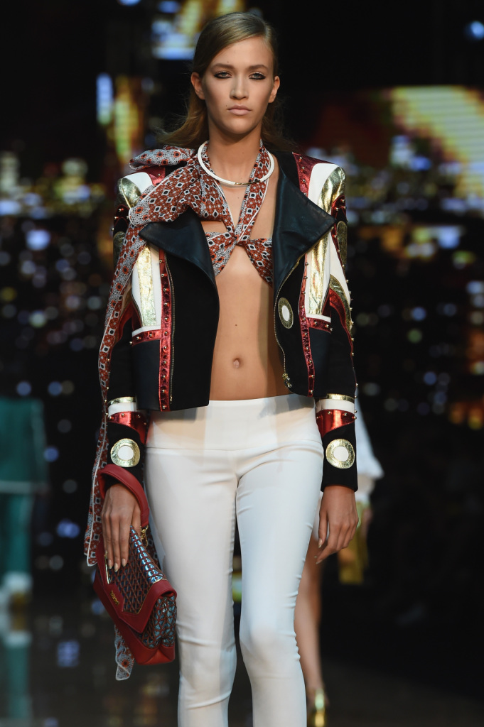 Giacca patchwork / Just Cavalli ss 2015